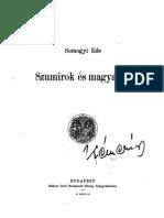 Somogyi Ede - Szumirok és Magyarok 1903.