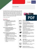 Dsc - Powershot Sx230 Hs Tech Sheet_final