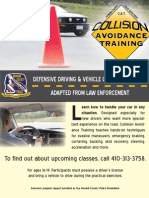 HCPD's Collision Avoidance Training returns for spring 2012