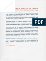 PRESIDENTA NACIONAL DE ANFUCULTURA PIDE A MINISTRO MAÑALICH FUNDAMENTAR DICHOS SOBRE CONFLICTO DE AYSEN.