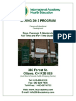 IAHEC Spring 2012 Courses