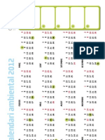 Pòster calendari ambiental 2012