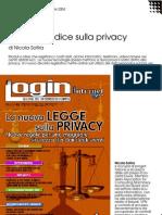 Il nuovo codice sulla privacy