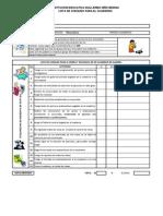 Lista de Chequeo para el cuaderno  matemáticas 7