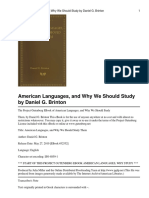 American Languages and Why W