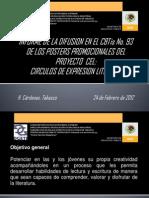 Difusion Posters Circulos Expresion Literaria Cbtis 93