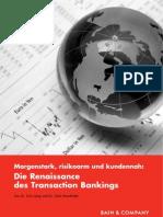 Bain-Studie_Renaissance Des Transaction Bankings