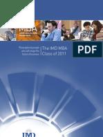 IMD 2011 Class Profile