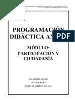 Programacion Anual Modulo Participacion y Ciudadania 1 Pcpi.11-12