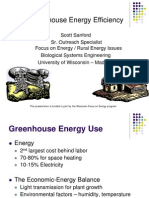 Greenhouse Energy Efficiency, S. Sanford, Nov 2005