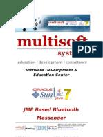 J2ME Based Bluetooth Messenger