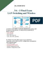 CCNA3 2012 exam1
