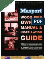 Masport Wood Fire User & Installation Manual