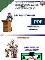 PRESENTACION LEY DE  LICITACIONES EQUIPO ORLANDO, YOLYMAR Y YADIRA