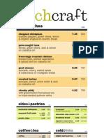 'wichcraft menu