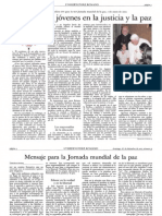 Mensaje del Santo Padre Benedicto XVI para la Jornada Mundial de la Paz 2012