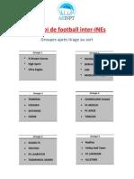 Planning Des Matchs de Football