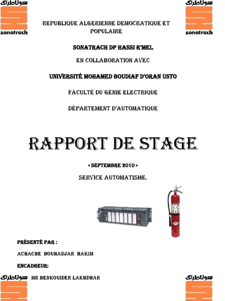 Rapport de stage - Page de garde rapport de stage open office ...