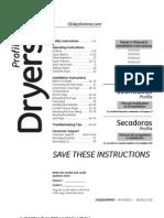 GE Profile Dryer Owner's Manual