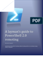 A Layman's Guide to Power Shell 2.0 Remoting-V2