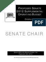 WA Senate proposed operating budget