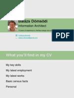 Resume | Balazs Domsodi