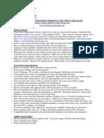Executive Protection Travel Checklist