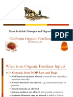 Organic Fertilizer & Plant Available Nitrogen