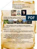 Invitacion Semana Santa 2012 Monasterio  sumo sacerdote Melquisedec