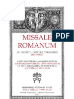 1955 Rubrics of the Roman Missal