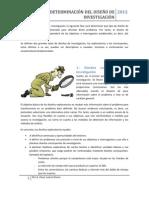 INV MDOS - DETERMINACIÓN DEL DISEÑO DE INVESTIGACIÓN