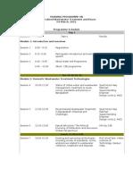 DWAT Training Schedule-2012