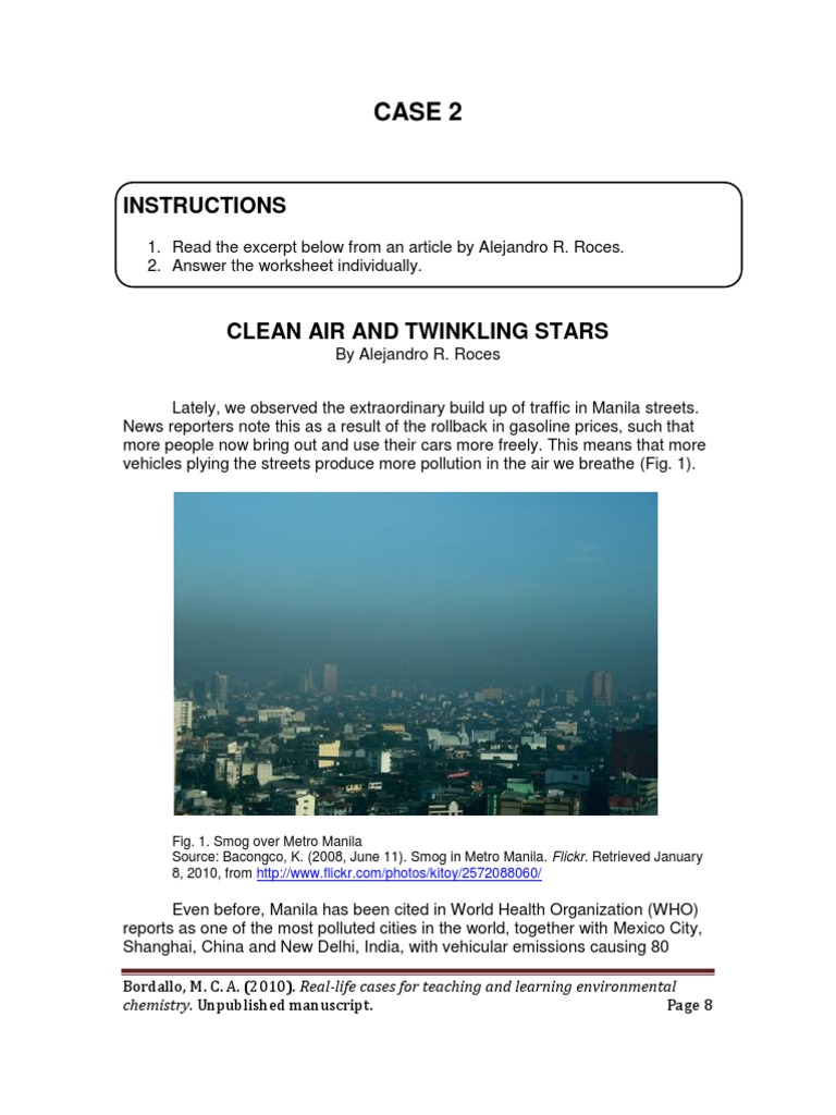 worksheet Smog City Worksheet Answers clean air and twinkling stars smog exhaust gas