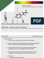 Chmbd430 - Nmr Spectroscopy - III