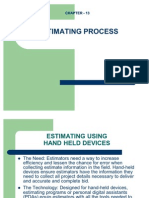 Ch. 13 Estimating Process