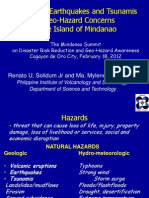 Volcanoes, Earthquakes and Tsunamis as Geo-Hazard Concerns in the Island of Mindanao