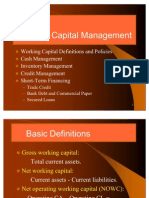 Working Capital Finance Trade Credit, Bank Finance and Commercial Paper