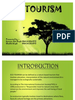 Eco Tourism Ppt | Natural Environment | Ecology