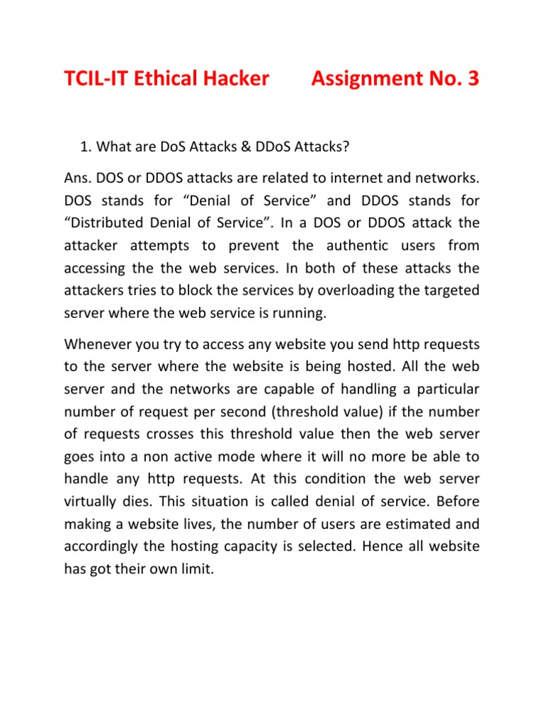 introduction to dos ddos attacks denial of service attack web