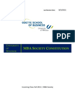 MBA Society Constitution Fall 2011
