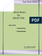 Notes on Sales Tax