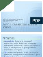 Topic 3 Job Analysis & Design