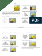 Membuat Origami Berbentuk Kepala Kucing