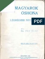 Fáy Elek dr. - A Magyarok Őshona 1910.