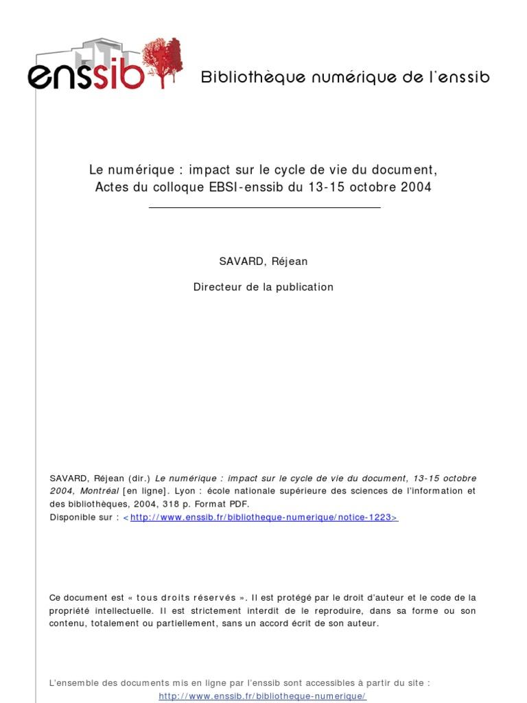 numerique et authenticite   La gestion des dossiers   Document