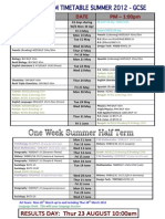 GCSE Timetable 2012 SUMMER (Final)