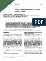 A Micro Porous Zirconia Membrane