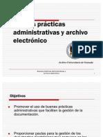 Buenas prácticas administrativas y archivo electrónico