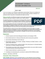 2012 - SPV01 - Web Coordinator - Position Information
