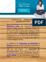 Academia de preparación de oposiciones justicia online